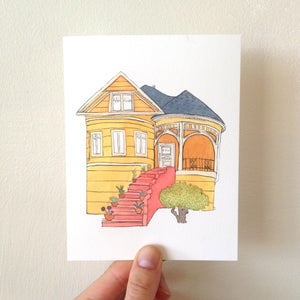 Yellow House Card