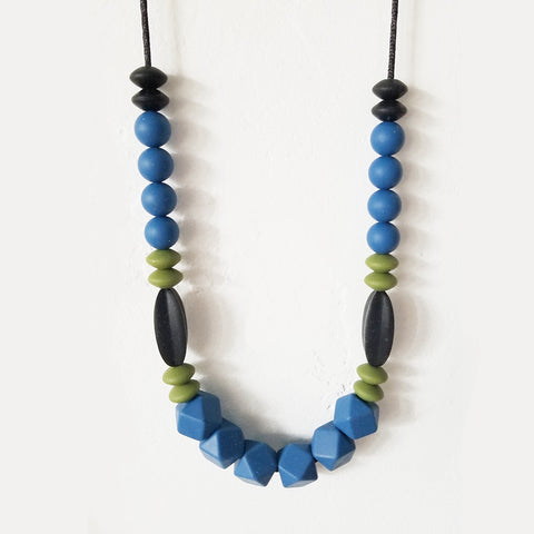 Blue, Black, and Green Chewable Necklace