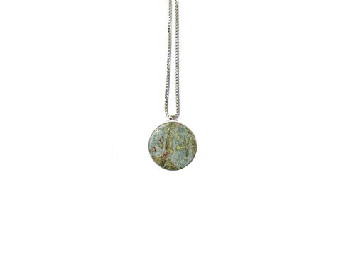 Deneb Single Stone Necklace (Silver)