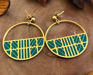 Globetrotter Earrings (Green)