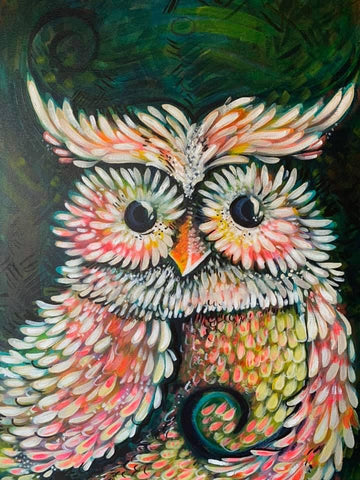 VIRTUAL WORKSHOP 2/20: Intro to Acrylic Painting - Owl Portrait