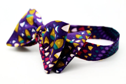 Purple Rain Bow Tie
