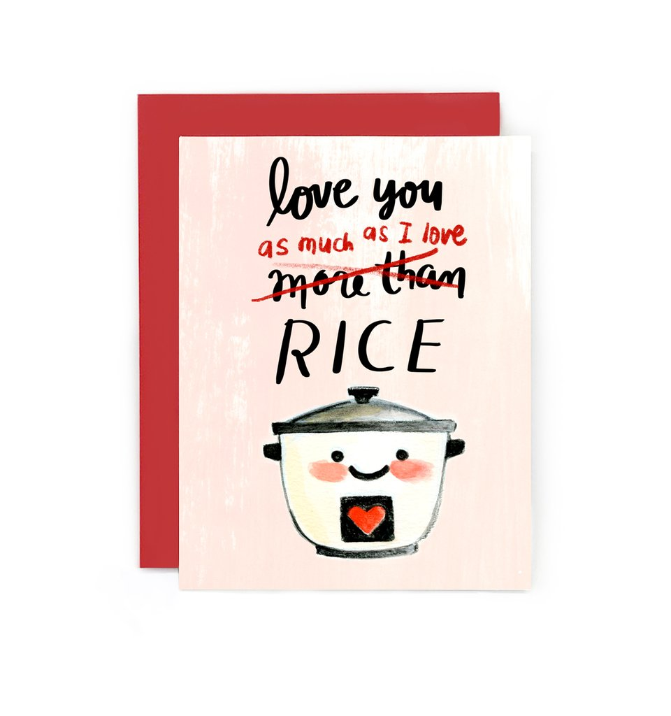Love You As Much As Rice Card