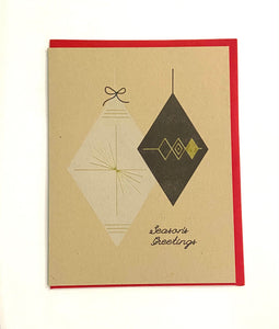 Season's Greeting Letterpress Card