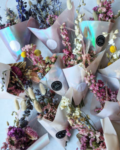Dried Bouquets with Selenite Wands