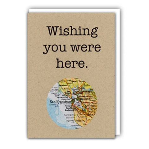 Wishing You Were Here Bay Area Card