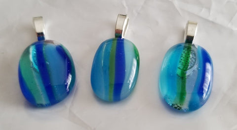 Blue and Green Small Pendants