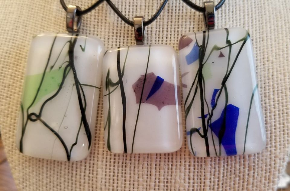 Abstract Confetti Pendants