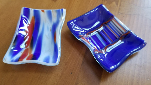 Red, White and Blue Trinket Dishes