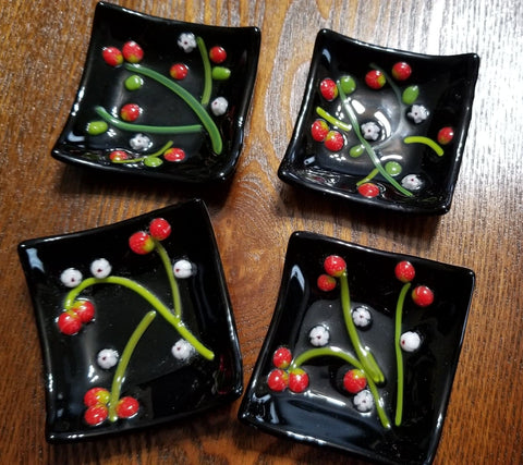 Strawberry Trinket Dishes