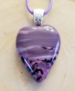 Purple Striped Hearts