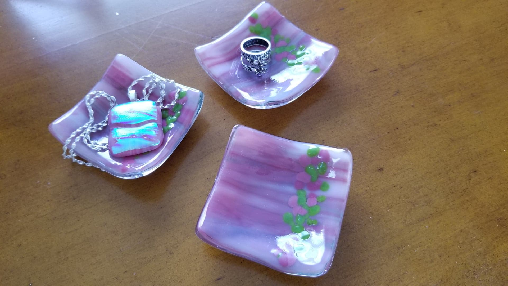 "Lovely Pink 3"" Trinket Dish"