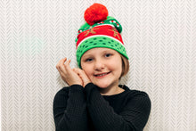 Load image into Gallery viewer, LED Holiday Knit Beanie Hat