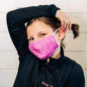 Dancer mask - breathable, washable, adjustable. Contains a pm2.5 filter pocke.