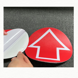 Floor Decal - Red Arrow