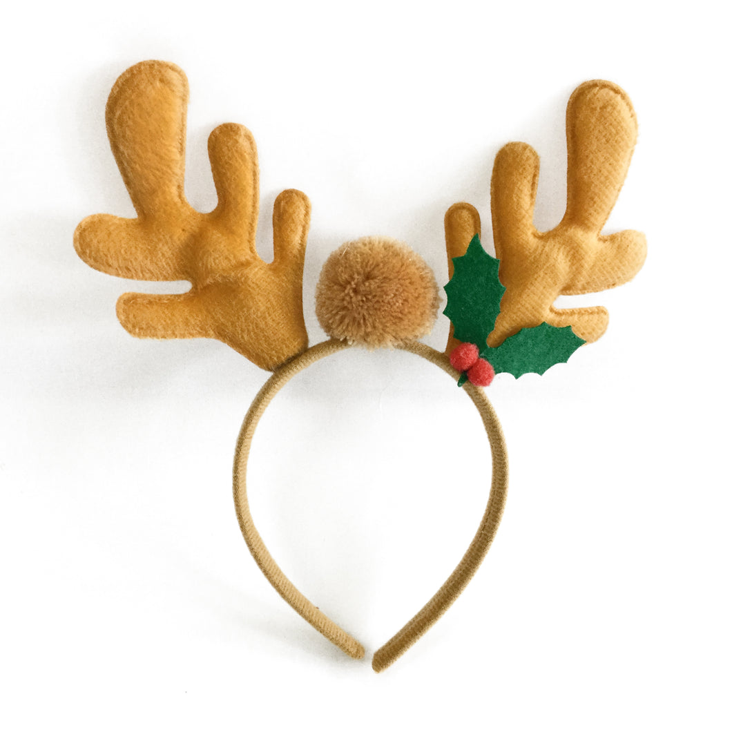 Reindeer Antlers with Pom Ball