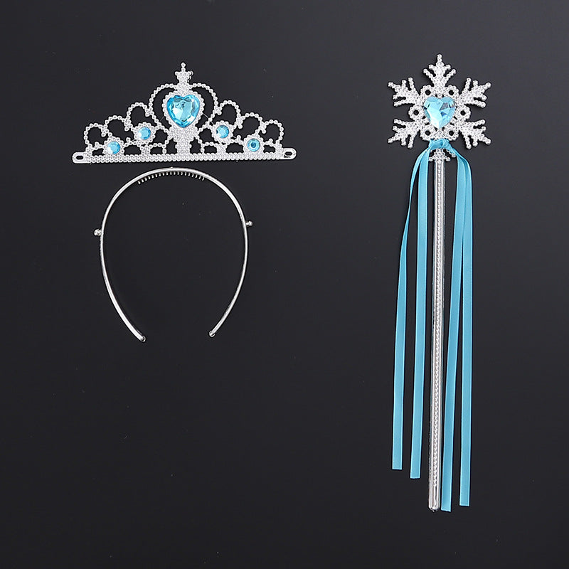 Snow Princess Magical Wand and Tiara-Blue