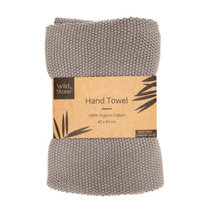 Hand Towels - 100% organic Cotton - Dove Grey