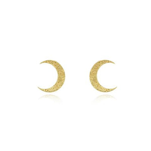 Gold Crescent Moon Earrings-Earrings-Momocretura-Animo Store