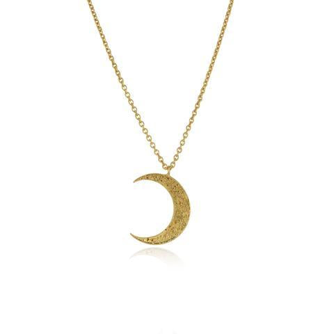 Gold Crescent Moon Necklace-Necklace-Momocretura-Gold-Animo Store