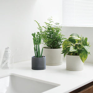 Plant Pot in Earth Grey-Plant Pot-KINTO-Animo Store