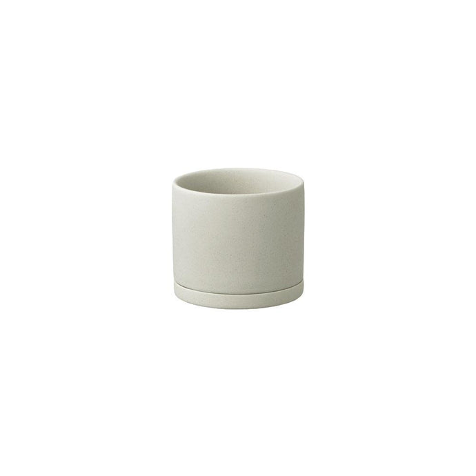 Plant Pot in Earth Grey-Plant Pot-KINTO-85mm-Animo Store