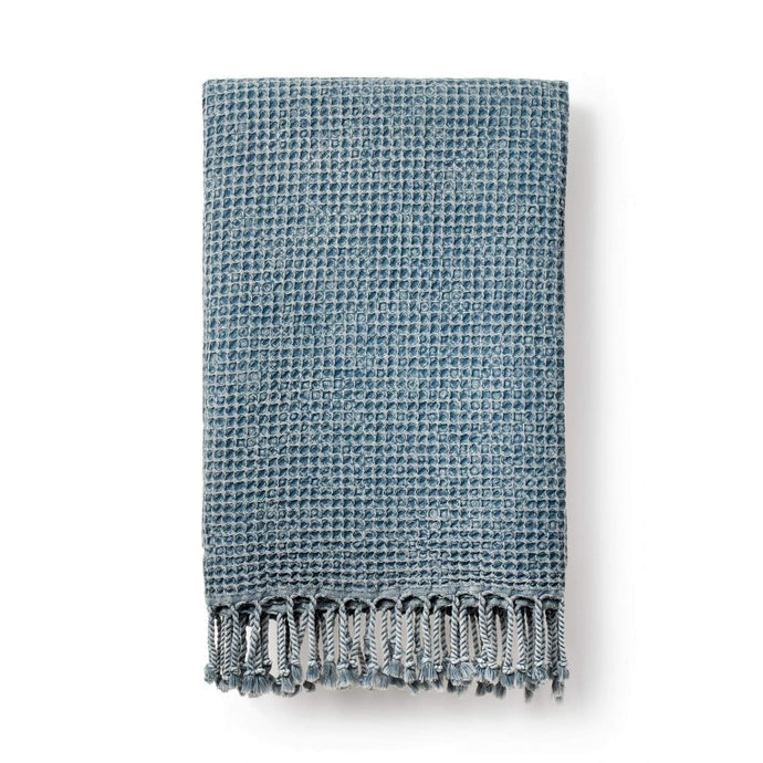 Rulo | Organic Cotton Waffle Blanket-Blankets and Throws-Luks-Marine Blue-Animo Store
