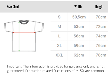 Size Chart The World is Yours Sweater by Team Vertex