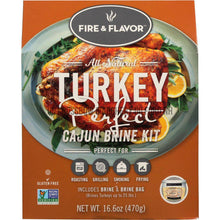 Load image into Gallery viewer, Fire And Flavor Turkey Perfect Brine Kit Cajun 2 Pk.