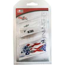 Load image into Gallery viewer, Bohning Blazer Vane Combo White-american Flag 36 Pk.
