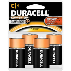 Duracell Coppertop Batteries C 4 Pk.