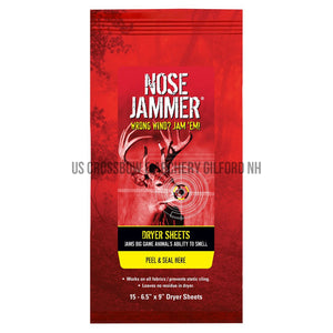Nose Jammer Dryer Sheets 15 Pk.-Nose Jammer-US Crossbow Store