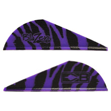 Load image into Gallery viewer, Bohning Blazer Vanes Purple Tiger 100 Pk.
