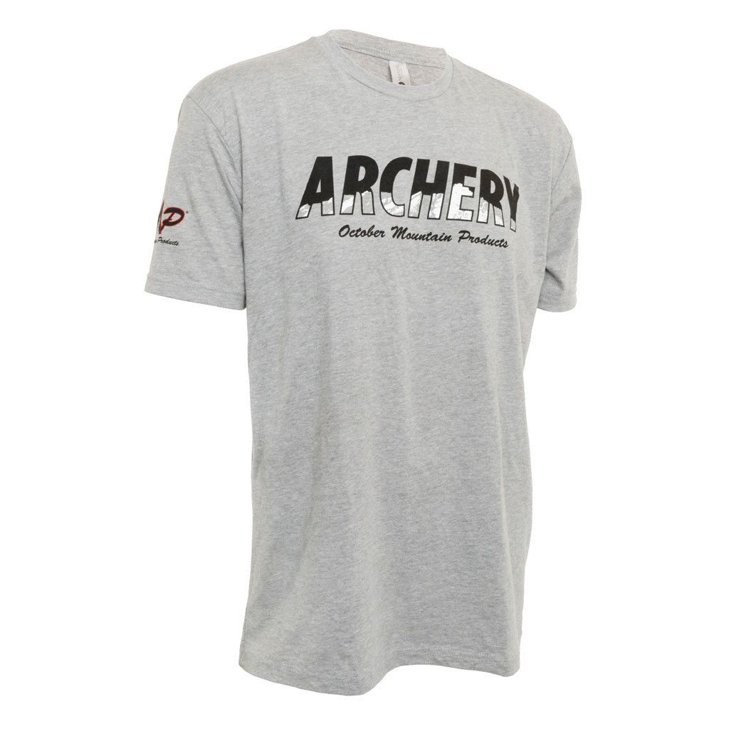 October Mountain Products Archery T-shirt Grey Large