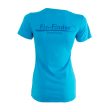Load image into Gallery viewer, Fin-finder Women's Gaff Tee Blue Small