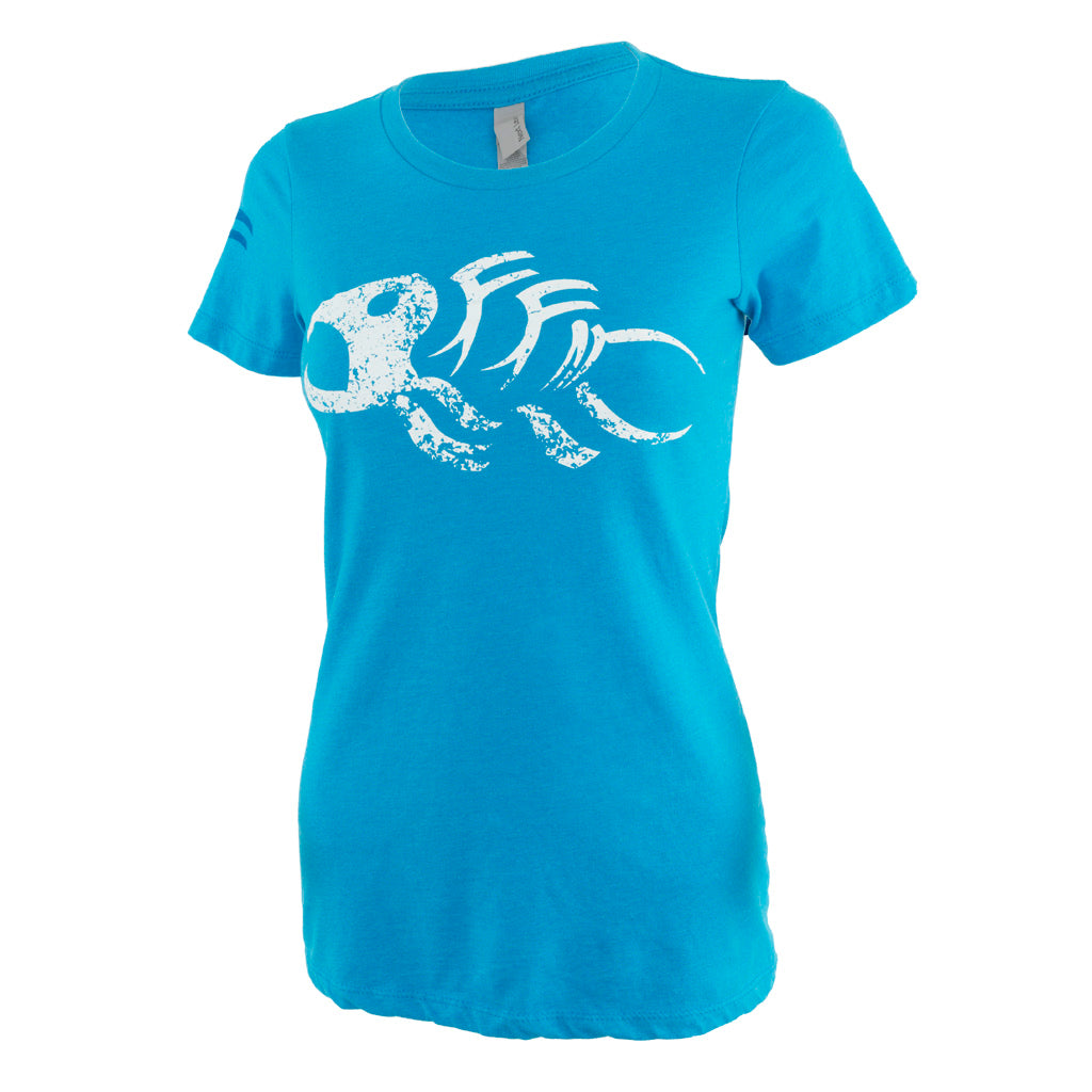 Fin-finder Women's Gaff Tee Blue Small