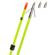 Load image into Gallery viewer, Fin Finder Raider Pro Bowfishing Arrow Flo Green W- Riptide Point