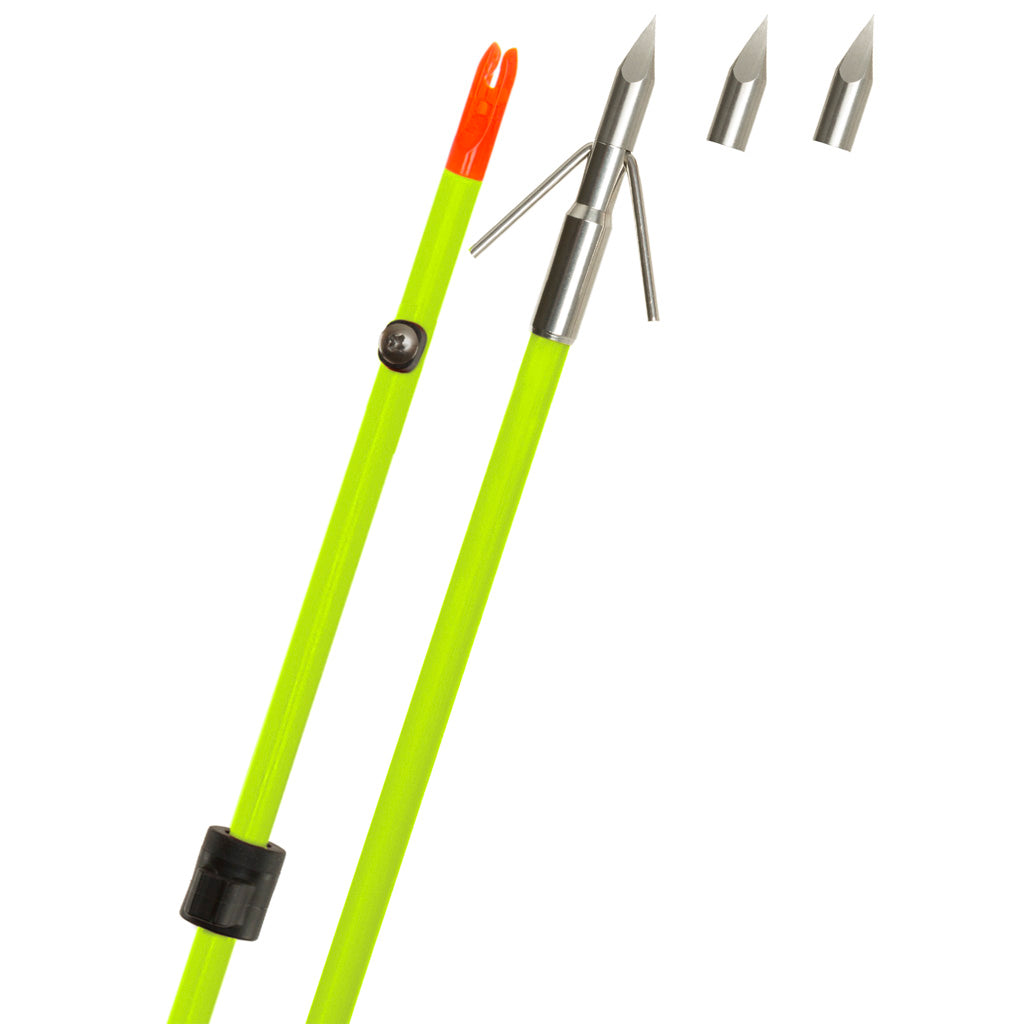 Fin Finder Raider Pro Bowfishing Arrow Flo Green W- Riptide Point