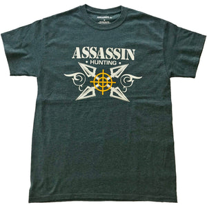 Assassin Broadhead T-shirt Charcoal 2x-large
