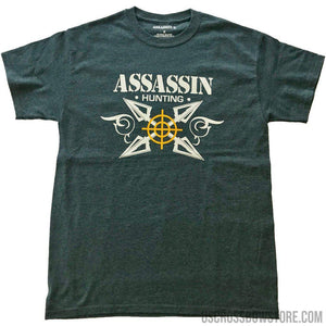Assassin Broadhead T-shirt Charcoal 2x-large-Hunting Clothing & Apparel-US Crossbow & Archery Store
