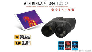 Atn Binox-4T 384-1.25-5X, 384X288, 19Mm, Thermal Binocular With Laser Range Finder, Full Hd Video Rec, Wifi, Gps, Smooth Zoom And Smartphone Controlling Thru Ios Or Android Apps-Binoculars-US Crossbow & Archery Store