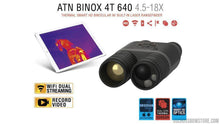 Load image into Gallery viewer, ATN Binox-4T 640-2.5-25x, 640x480, 50mm, Thermal Binocular with Laser range finder, Full HD Video rec, WiFi, GPS, Smooth zoom and Smartphone controlling thru iOS or Android Apps-binoculars-US Crossbow & Archery Store