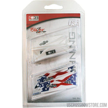 Load image into Gallery viewer, Bohning Blazer Vane Combo White-american Flag 36 Pk.-Archery Products-US Crossbow & Archery Store