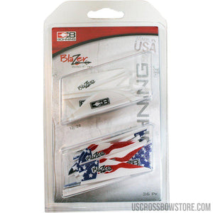 Bohning Blazer Vane Combo White-american Flag 36 Pk.-Archery Products-US Crossbow & Archery Store