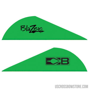 Bohning Blazer Vanes Neon Green 1000 Pk.-Archery Products-US Crossbow & Archery Store