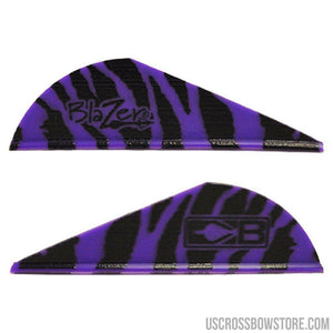 Bohning Blazer Vanes Purple Tiger 100 Pk.-Archery Products-US Crossbow & Archery Store