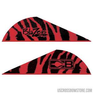 Bohning Blazer Vanes Red Tiger 100 Pk.-Archery Products-US Crossbow & Archery Store