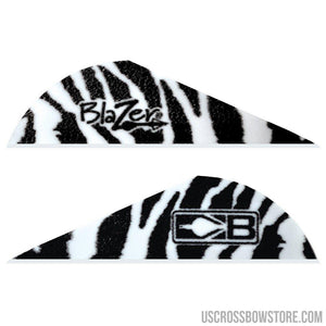 Bohning Blazer Vanes White Tiger 100 Pk.-Archery Products-US Crossbow & Archery Store