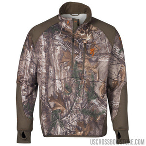Browning Fleece 1-4 Zip Jacket Realtree Xtra Medium-Hunting Clothing & Apparel-US Crossbow & Archery Store