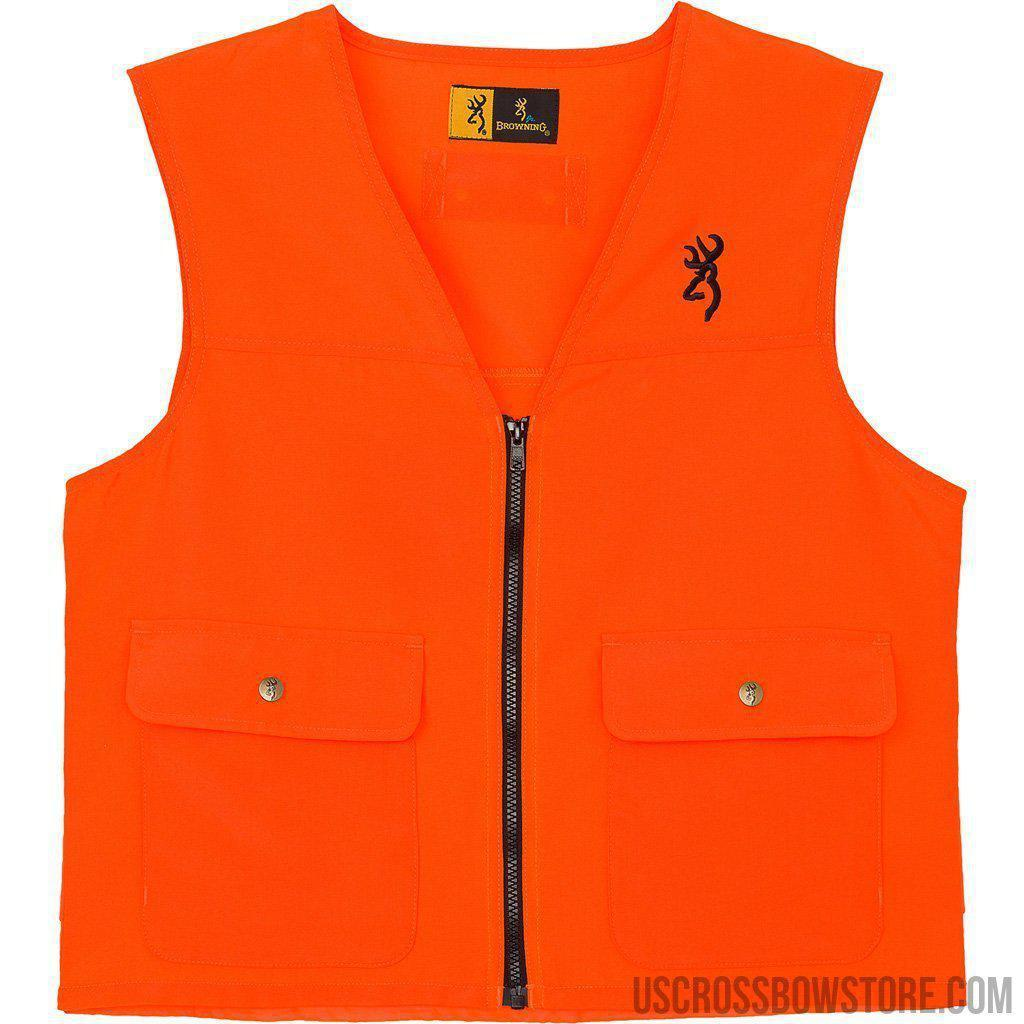 Browning Safety Vest Blaze Orange Small-Browning-US Crossbow & Archery Store
